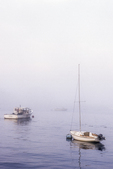 Boats in Early Morning Fog