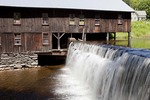 Old Sawmill and Waterfall