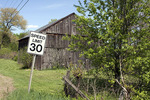 Old Barn and 30 MPH Sign
