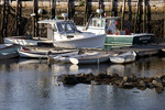 Two Lobster Boats Docked in Camden Harbor