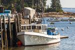 Fishing Boat Docked at Owl's Head Wharf