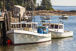 Two Fishing Boats Docked in Owl's Head, Maine
