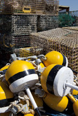 Lobster Traps and Yellow Buoys