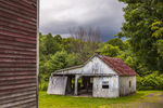 Old Garage on a Stormy day,