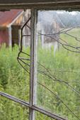 Broken Window in the Barn