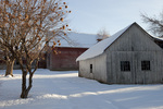 Old Garage and Barn in Winter