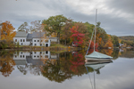 Sailboat on Harrisville Pond
