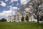 Blue Skies Over the Rhode Island State Capitol