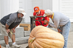 Weighing the Giant Pumpkin