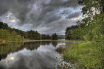 Late Afternoon Clouds Over Connors Pond