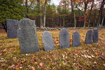 Family Headstones In A Colonial Era Cemetary