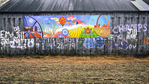 Graffiti On the Side of a Barn