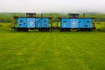 Two Blue Caboose