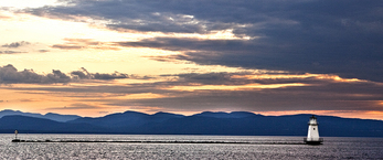 Breakwater Lighthouse on Lake Champlain