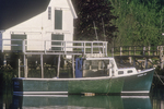 Green Boat in Boothbay, ME