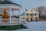 Bandstand Decorated for Christmas