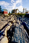 Rocky Shoreline at Pemaquid Point Lighthouse
