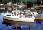 Fishing Boat at a Dock in New Harbor