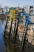 Lobster Traps Piled Up On the Pier at Rockport