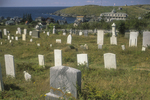 Cemetary Overlooks the Village on Monhegan Island