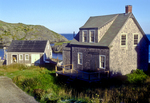 Early Morning Light Shines on a Monhegan Cottage