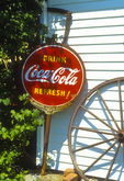Coca Cola Sign Outside an Antique Shop