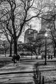 Boston Common - John Hancock Building in the Background