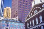 The Old and New - Faneuil Hall and Modern Skyscrapers
