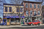Colorful Storefronts in Shelburne Falls