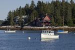 Fishing Boats Moored At Five Islands