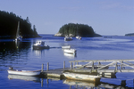 Five Islands Harbor with Fishing Boats Moored