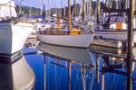 Old Sailboat at Robin Hood Marina's Dock