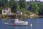 Lobster Boat Moored At New Harbor, ME