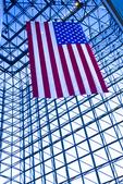 American Flag Hangs At the JFK Library