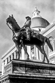 General Hooker's Memorial Statue Next to the Massachusetts Capitol Building