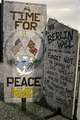 Pieces of the Berlin Wall in Downrown Portland