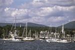 Sailboats in Camden Harbor