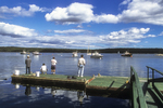 Fishing From the Dock At Cundy's Harbor