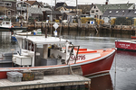Red Fishing Boat in Rockport Harbor