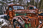 Two Old Abandoned Trucks