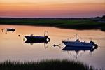 Three Boats at Sunset