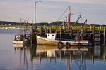Fishing boats tied up at Wellfleet Harbor