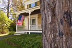 Flag flying on a house in Ashfield, MA