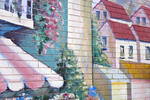 Mural painted on the wall of a store on Shrewsbury Street in Worcester, MA