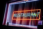 Colorful Restaurant neon sign