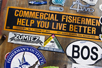 Parts of signs posted in Gloucester, Massachusetts
