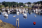 Many boats moored in Ogunquit Harbor.