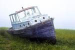 Old fishing boat abandoned in Wellfleet, MA
