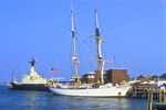 Corwith Cramer, a tall ship sailboat, is a research vessel used by the Sea Education Association.
