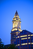 The Custom House tower located in Boston, MA
